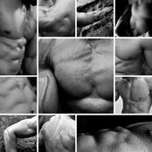 Bodybuilding collage — Stock Photo