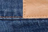 Jeanshose mit Schild — Stock Photo