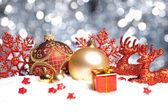 Weihnachten schnee eis paket winter kugel Rentier weihnachtsbaum — Stock Photo