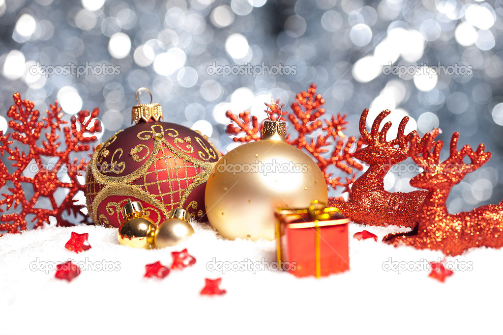 weihnachten schnee eis paket winter kugel rentier. Black Bedroom Furniture Sets. Home Design Ideas