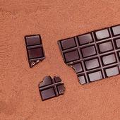 Tafel schokolade kakaopulver schokoladentafel braun — Foto de Stock