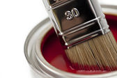 Farbe farbfächer pinsel farbtopf renovieren heimwerker baumarkt — Стоковое фото