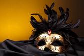 Maske venedig kostüm party weihnachten sylvester karneval seide — Stock Photo