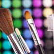 Stockfoto: Pinsel puder palette kosmetikerin make up schminken