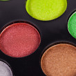 Pinsel puder palette kosmetikerin make up schminken - Foto de Stock