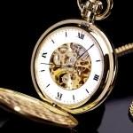 Uhr taschenuhr gold uhrzeit zeiger countdown antik — Stock Photo #7925360