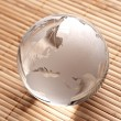 Globus erdball geo karte glas kristal wellness bambus — Stock Photo #7925859
