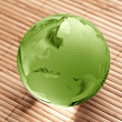 Globus erdball geo karte glas kristal wellness bambus — Stock Photo