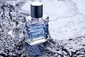 Wasser parfüm deodorant flakon duft flüssigkeit aqua flasche — Stock Photo