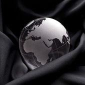 Globus erdball geo karte glas 克利斯特 seide 的点子 stoff — 图库照片
