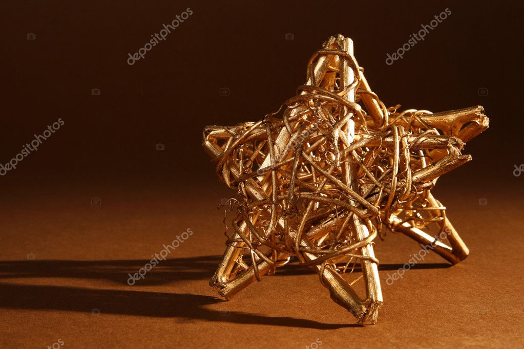 Christmas gold stars — Stock Photo #7465640