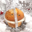 Christmas muffin — Stock Photo