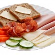 Garnished platter — Stock Photo