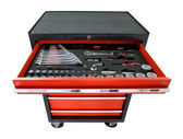 Toolbox on wheels — Stock Photo