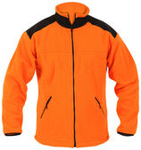 Orange fleece jacket — Stock Photo