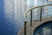 Pool wish blue water — Stock Photo
