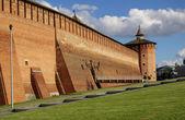 Muro del cremlino in kolomna — Foto Stock