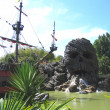 pirata nave - disneyland paris, disneyland Parigi, agosto, 01, 2004 — Foto Stock