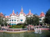Disneyland Resort Paris maingate, Disneyland Paris, August, 01, 20 — Stock Photo