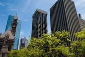 Toronto Skyline with the old City Hall — Stock Photo