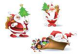Santa Claus. Christmas and New Year — Stock Vector