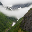 Alaskan Mountain covered in Fog — Stock Photo