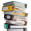 Pile of file binder with papers — Stock Photo #7787737