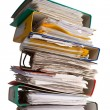 The pile of file binder with papers — Stock Photo