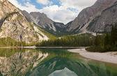 Val Pusteria lago di Braies — Stock Photo