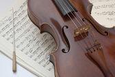 Viola con Bacchetta — Stock Photo