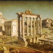 Roma Fori Imperiali Texture Vintage - Stock Photo