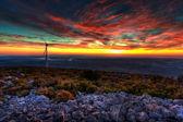 Sunset at Eolic Park — Stock Photo