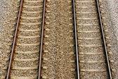 Par de vía ferroviaria — Foto de Stock