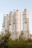 A group of processing silos of a concrete factory — Photo