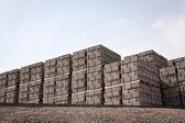 Pallets of concrete blocks — Stock Photo