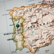 Iberian peninsula Map — Stock Photo #7842361