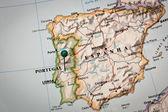 Iberian peninsula Map — Stock Photo
