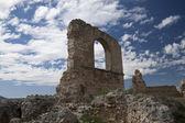 Ruiny zamku w zorita de los laski — Zdjęcie stockowe