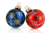 New-year decoration on a white background — Stock Photo