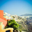 Stock Photo: Slopes of island Santorini 2