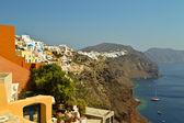 Slopes of island Santorini — Stock Photo