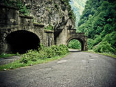 Tunnel on mountain road — Stock Photo