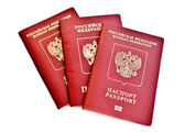 Three passports — Stock Photo