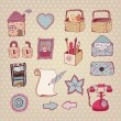 Royalty-Free Stock Imagen vectorial: Creative hand drawn  web icon set