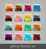 Glossy buttons set — Stock Vector