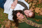 Autumn Couples — Stock Photo