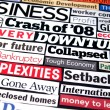 Stock Photo: Economic Headlines