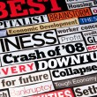 Economic Headlines - Stock Photo