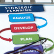 Strategy Plans — Stock Photo