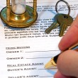 Contract of Home Sale — Stock Photo